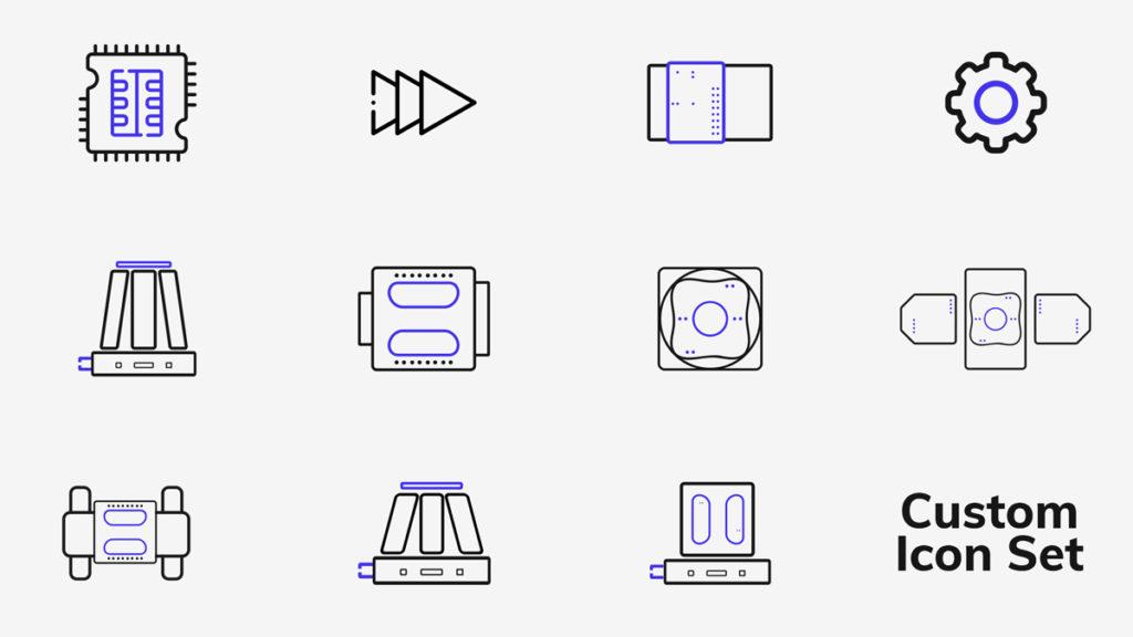 Custom Designed Icons for ALIO Industries