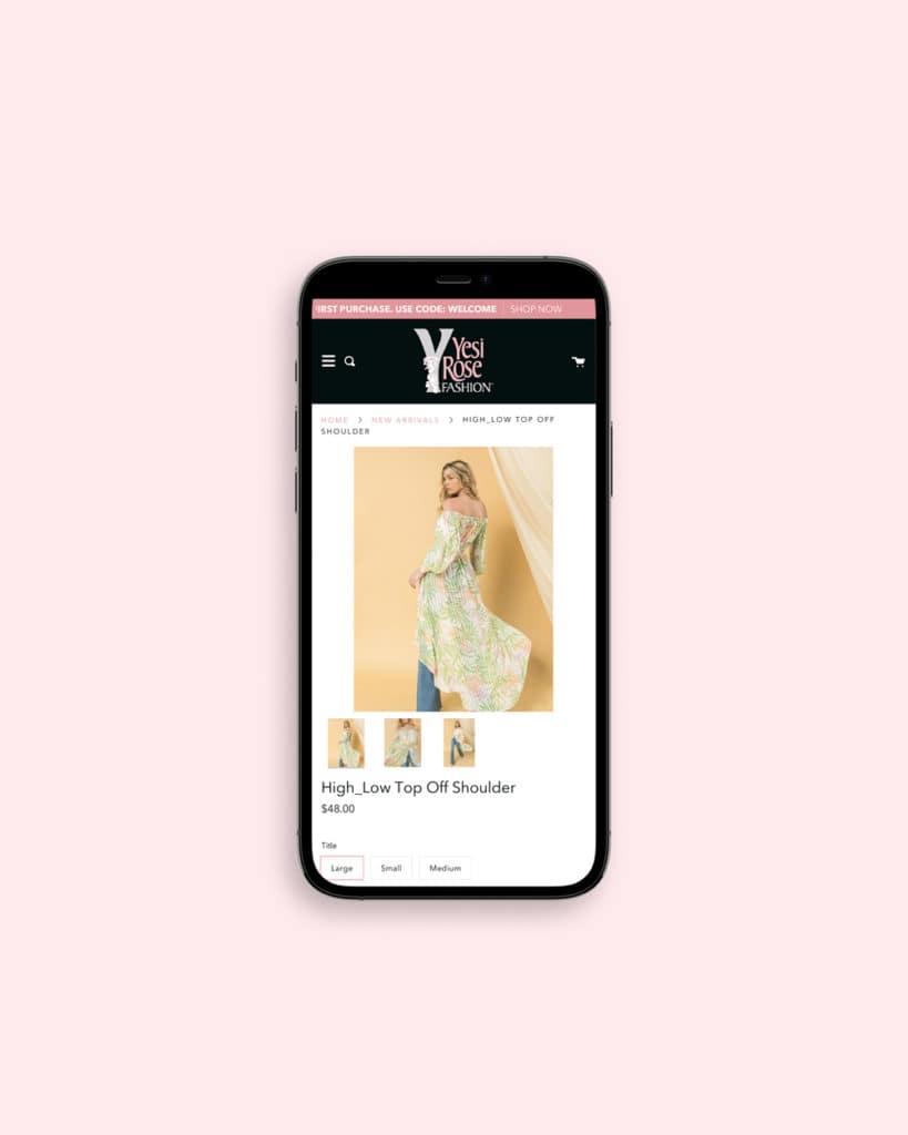 Mobile Responsive Yesi Rose Fashion