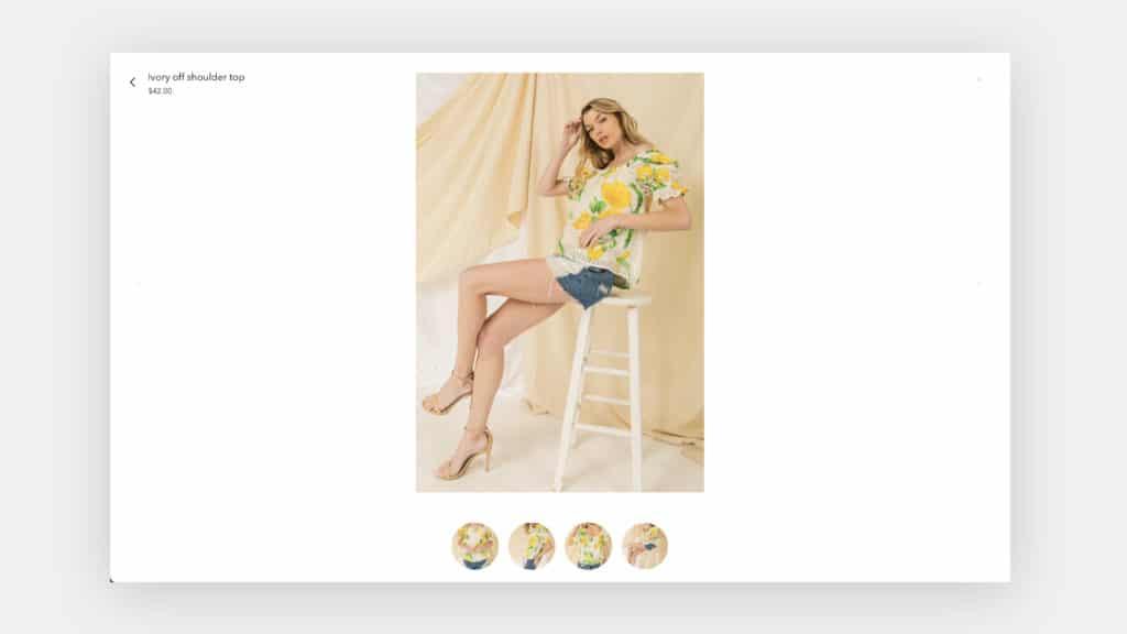 Gallery Overlay on Yesi Rose Fashion website